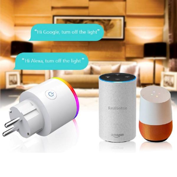 Wifi EU Smart Plug with RGB Light