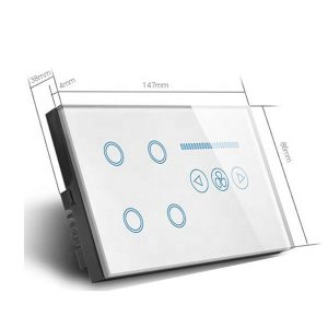 Wifi Touch Switch 4-Gang + Fan